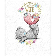 Wife Birthday Me to You Bear Luxury Card