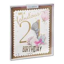 Fabulous 21st Me to You Bear Luxury Boxed Birthday Card
