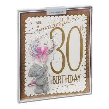 Wonderful 30th Day Me to You Bear Luxury Boxed Birthday Card