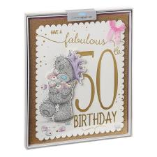 Fabulous 50th Me to You Bear Luxury Boxed Birthday Card