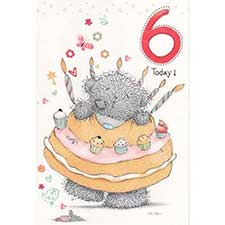 6th Birthday Me to You Bear Card