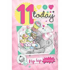 11th Birthday Me to You Bear Card