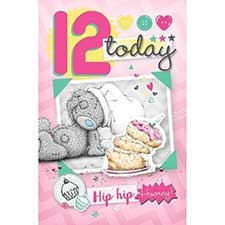 12th Birthday Me to You Bear Card