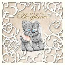 Evening Acceptance Me to You Bear Wedding Card