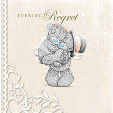 Evening Regret Me to You Bear Wedding Card
