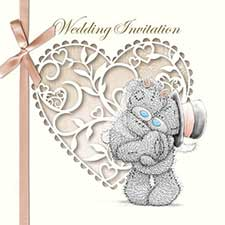 Me to You Bear Wedding Invitations (Pack of 6)