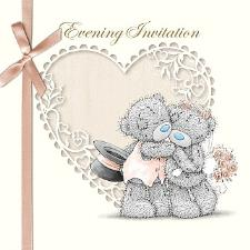 Me to You Bear Wedding Evening Invitations Pack of 6