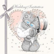 Wedding Invitation Me to You Bear Cards (Pack of 6)