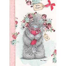 With Regret Wedding Me to You Bear Card