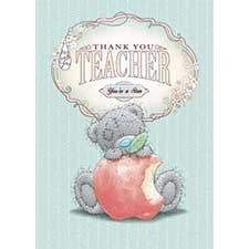 Thank You Teacher Me to You Bear Cards