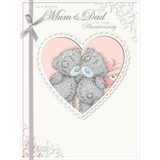 Mum & Dad Me to You Bear Large Anniversary Card