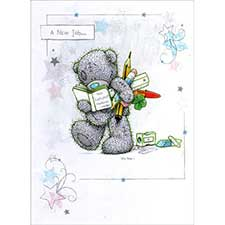 New Job Me to You Bear Card