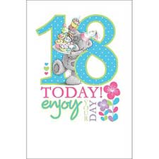 18th Birthday Large Me to You Bear Card