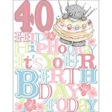 40th Birthday Me to You Bear Card