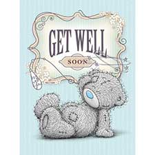 Get Well Soon Large Me to You Bear Card