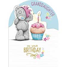 Granddaughter Birthday Large Me to You Bear Card