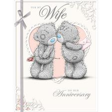 Wife On our Anniversary Large Me to You Bear Card