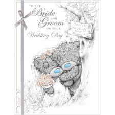 Bride & Groom Me to You Bear Large Wedding Card
