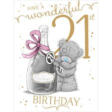 Wonderful 21st Large Me to You Bear Birthday Card