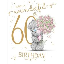 Wonderful 60th Large Me to You Bear Birthday Card