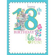 18th Birthday Luxury Me to You Bear Boxed Card