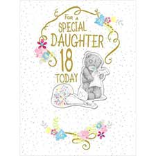 18th Birthday Daughter Large Luxury Me to You Bear Card