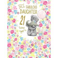 Daughter 21st Birthday Large Me to You Bear Card