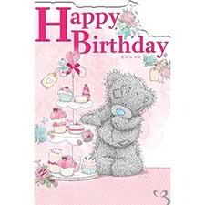 Tatty Teddy with Cakes Birthday Me to You Bear Card