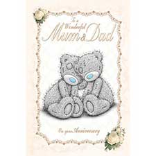 Mum & Dad Anniversary Me to You Bear Card