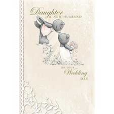 Daughter & New Husband Me to You Bear Wedding Card