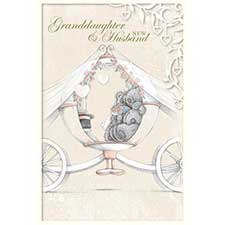 Granddaughter & New Husband Me to You Bear Wedding Card