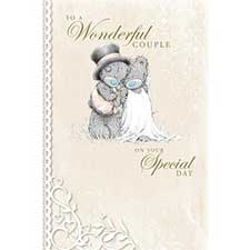 To A Wonderful Couple Me to You Bear Wedding Card