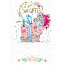 Daughter Birthday Me to You Bear Card