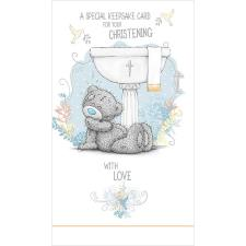 Christening Me to You Bear Keepsake Card