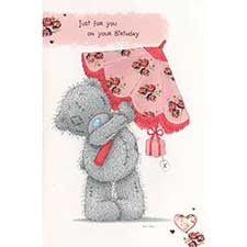Just for You Birthday Me to You Bear Card