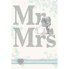 Mr & Mrs Me to You Bear Wedding Card