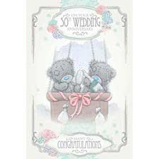 50th Golden Wedding Anniversary Me to You Bear Card