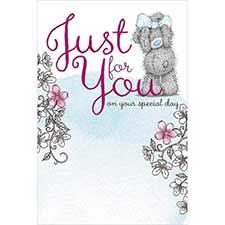 Just For You Me to You Bear Birthday Card