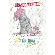 Granddaughter Birthday Me to You Bear Card