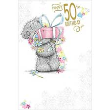 50th Birthday Gift Me to You Bear Card