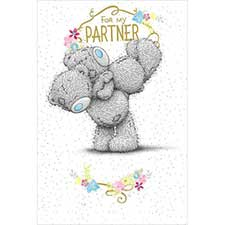 For My Partner Me to You Bear Card
