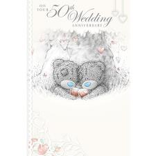 50th Wedding Anniversary Me to You Bear Card