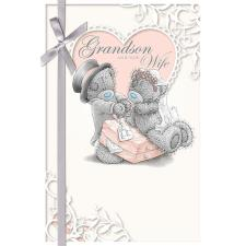 Grandson and New Wife Me to You Bear Wedding Day Card