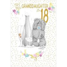 Granddaughter 18th Birthday Me to You Bear Card