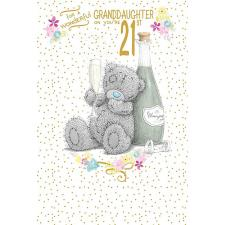 Wonderful Granddaughter 21st Me to You Bear Birthday Card