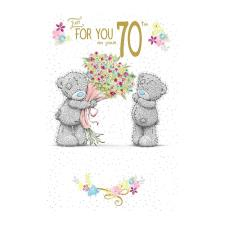 On Your 70th Birthday Me to You Bear Birthday Card
