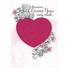 Someone Loves You Me to You Bear Pop-Up Card
