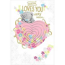 Someone Loves You Pop Up Me to You Bear Card