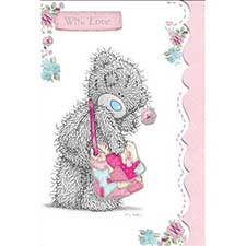 Tatty Teddy with Bow Birthday Me to You Bear Card