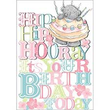 Hooray Its your birthday Me to You Bear Card